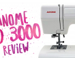 Sewing Machine Review: Janome HD 3000