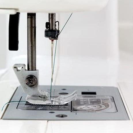 janome 5812 sewing machine needle close up