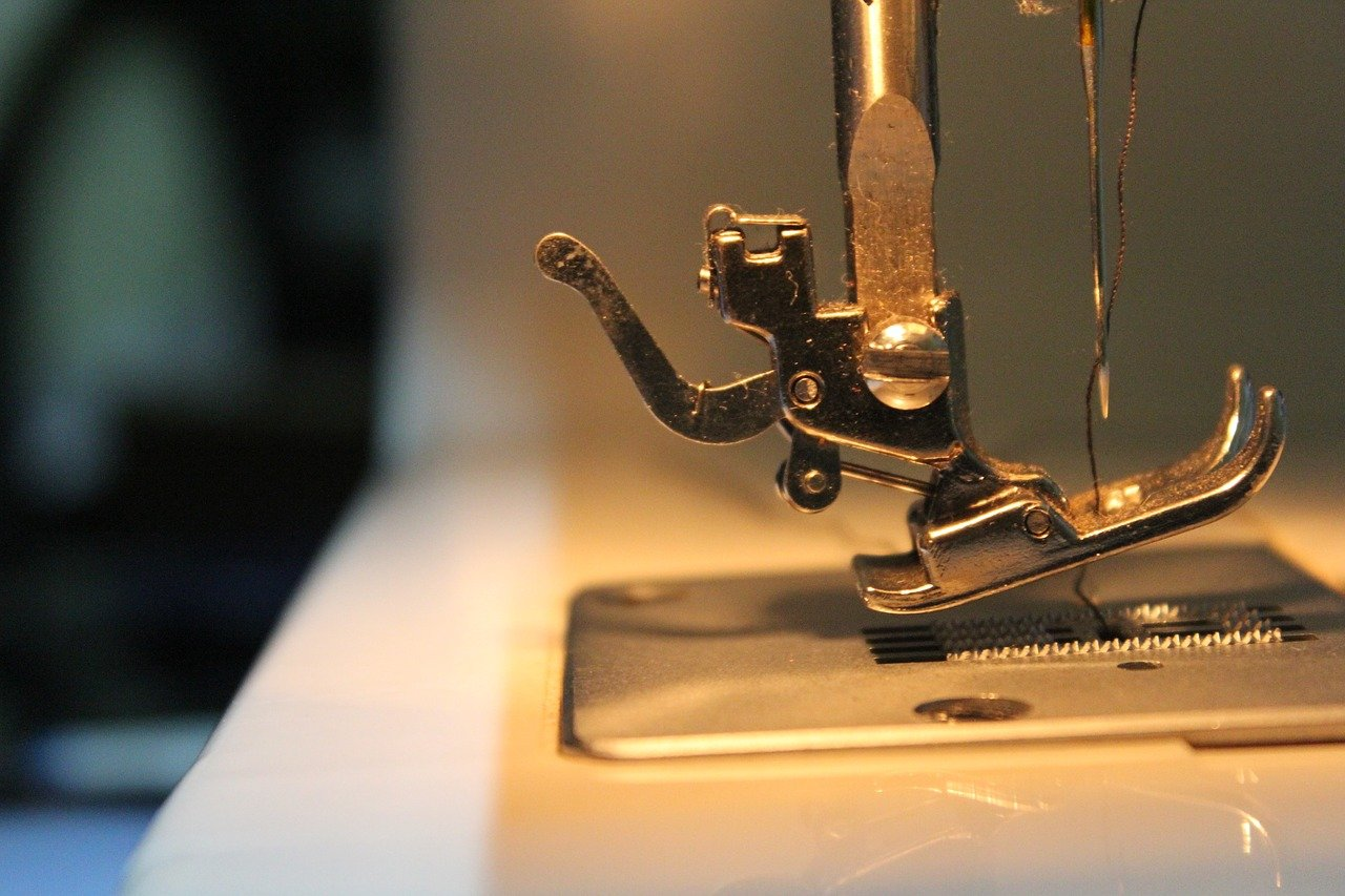 sewing machine stainless steel needle close up